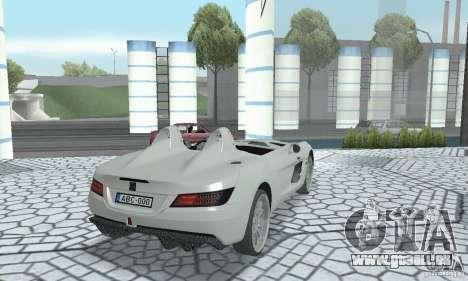 Mercedes-Benz SLR Moss 2008 pour GTA San Andreas laissé vue