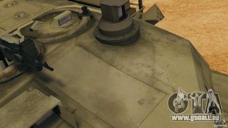 M1A2 Abrams pour GTA 4 vue de dessus