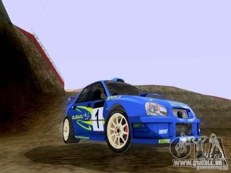 Subaru Impreza WRC 2003 pour GTA San Andreas laissé vue