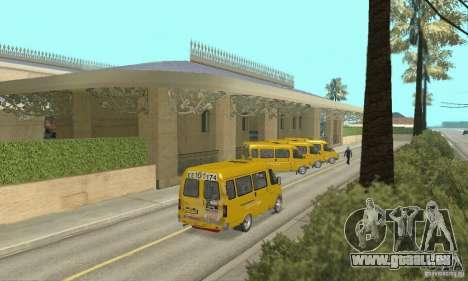 Gaz 2705 Minibus pour GTA San Andreas laissé vue