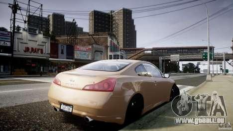 Infiniti G37 Coupe Sport für GTA 4 linke Ansicht