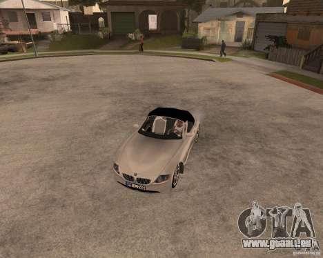 BMW Z4 pour GTA San Andreas vue intérieure