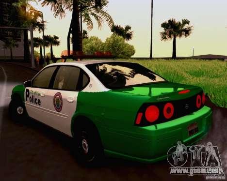 Chevrolet Impala 2003 VCPD police für GTA San Andreas linke Ansicht