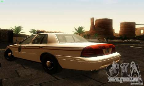 Ford Crown Victoria North Dakota Police pour GTA San Andreas laissé vue