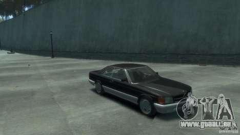 Mercedes-Benz w126 560SEC pour GTA 4 est un droit