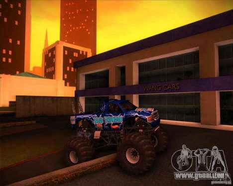 Monster Truck Blue Thunder pour GTA San Andreas vue de dessus