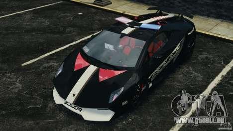 Lamborghini Sesto Elemento 2011 Police v1.0 RIV für GTA 4 Räder