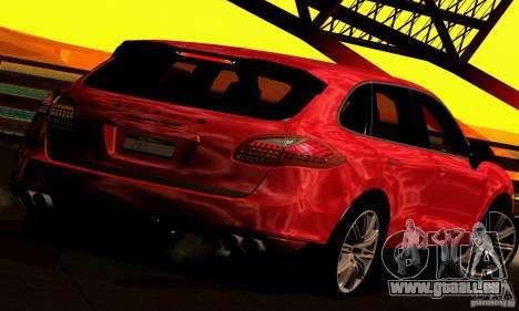 Porsche Cayenne Turbo 958 2011 pour GTA San Andreas laissé vue