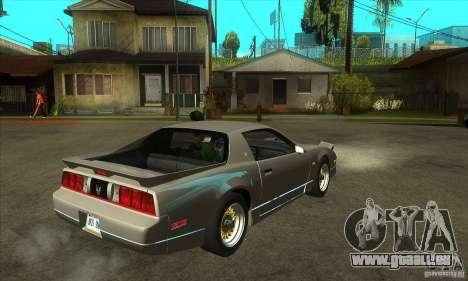 Pontiac Trans AM 1987 für GTA San Andreas rechten Ansicht