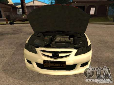 Mazda 6 Police Indonesia pour GTA San Andreas vue de droite