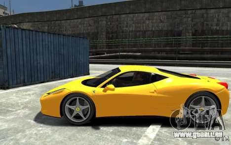 Ferrari 458 Italia 2010 v3.0 für GTA 4 linke Ansicht