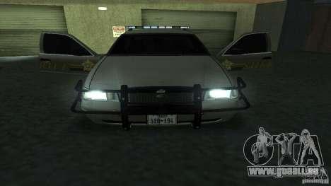 Ford Crown Victoria pour GTA San Andreas vue intérieure