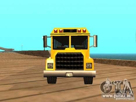 School bus für GTA San Andreas rechten Ansicht