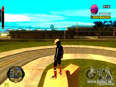 Peau bum v8 pour GTA San Andreas troisième écran