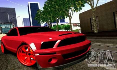 Shelby GT500 KR pour GTA San Andreas sur la vue arrière gauche