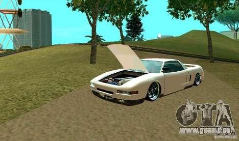 New Infernus pour GTA San Andreas vue de dessus