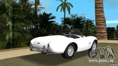 AC Cobra 289 für GTA Vice City zurück linke Ansicht