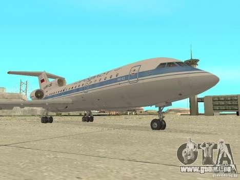Aeroflot Yak-42 pour GTA San Andreas laissé vue