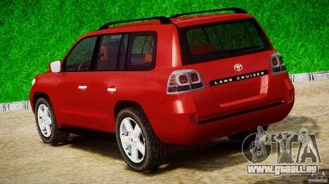 Toyota Land Cruiser 200 2007 für GTA 4 Seitenansicht