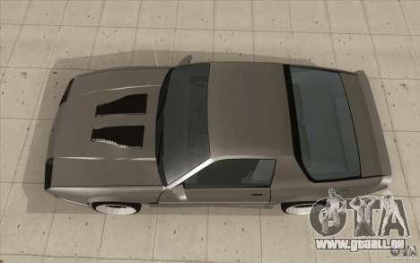 Chevrolet Camaro IROC-Z 1989 pour GTA San Andreas vue de droite