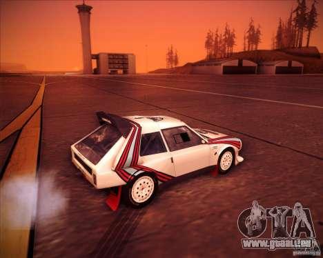 Lancia Delta S4 pour GTA San Andreas sur la vue arrière gauche