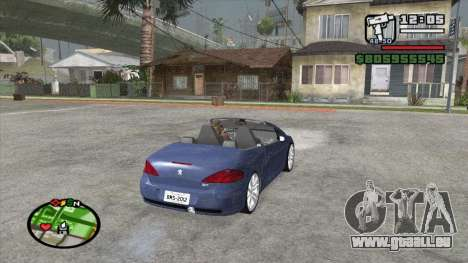 Peugeot 307 BMS Edition für GTA San Andreas zurück linke Ansicht