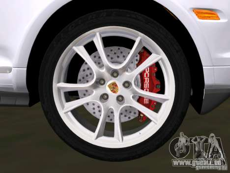 Porsche Cayenne Turbo S pour une vue GTA Vice City de l'intérieur