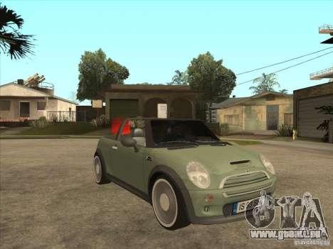 Mini Cooper S Cabrio für GTA San Andreas Innenansicht