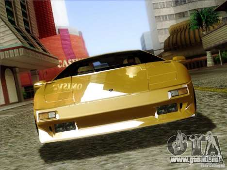 Lamborghini Diablo VT 1995 V3.0 für GTA San Andreas Unteransicht