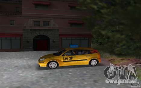 Ford Focus TAXI cab für GTA Vice City linke Ansicht