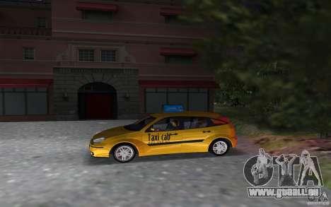 Ford Focus TAXI cab pour une vue GTA Vice City de la gauche