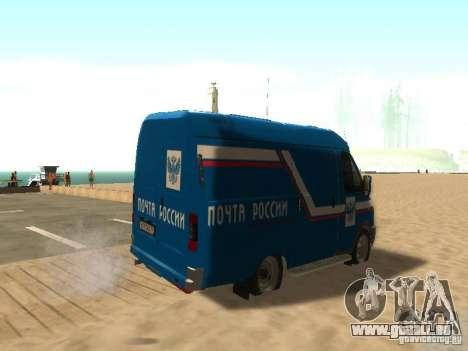 Courrier de Gazelle 2705 de Russie pour GTA San Andreas sur la vue arrière gauche