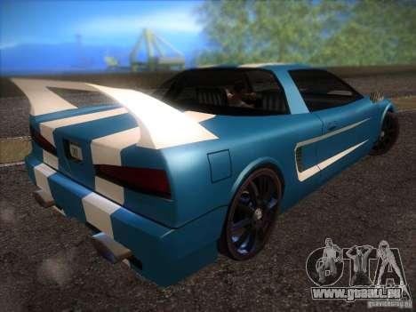 New Infernus für GTA San Andreas Innenansicht