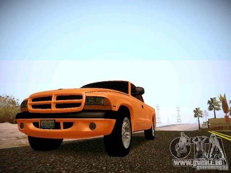 Dodge Ram 1500 Dacota pour GTA San Andreas laissé vue