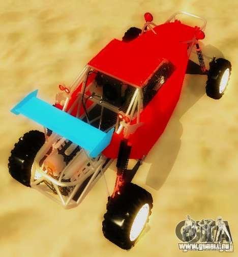 Buggy V8 4x4 pour GTA San Andreas sur la vue arrière gauche