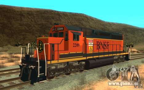 Locomotive SD 40 Union Pacifique BNSF pour GTA San Andreas