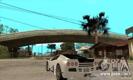 SSC Ultimate Aero FM3 version pour GTA San Andreas sur la vue arrière gauche