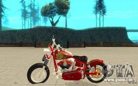 Orange County Chopper Sunshine pour GTA San Andreas laissé vue
