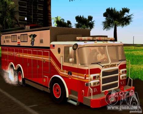 Pumper Firetruck Pierce F.D.N.Y pour GTA San Andreas