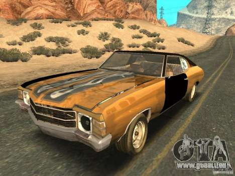 Chevrolet Chevelle Rustelle pour GTA San Andreas vue intérieure