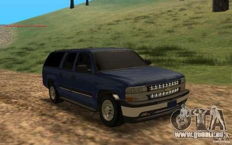 Chevrolet Suburban 2006 pour GTA San Andreas laissé vue
