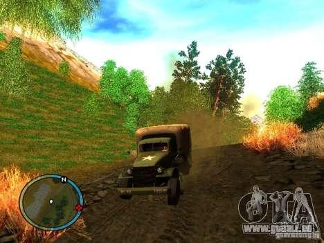 Millitary Truck from Mafia II pour GTA San Andreas sur la vue arrière gauche