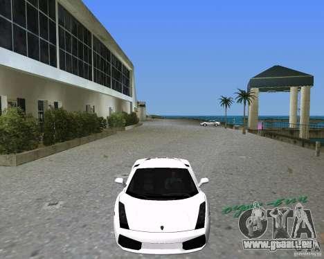 Lamborghini Gallardo pour GTA Vice City sur la vue arrière gauche
