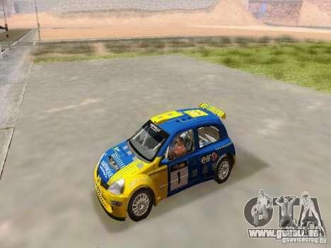 Renault Clio Super 1600 pour GTA San Andreas vue de droite