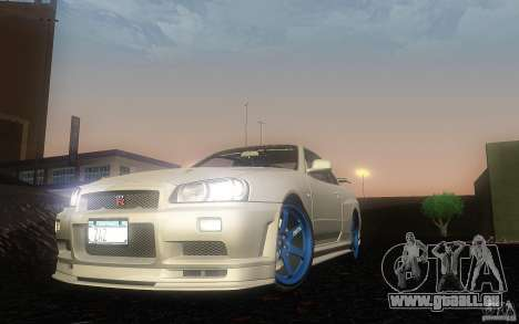 Nissan Skyline GT-R R34 M-spec Nur für GTA San Andreas linke Ansicht