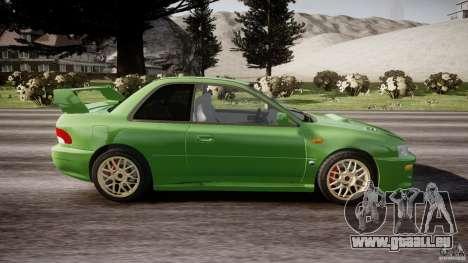 Subaru Impreza 22b 1998 (final) pour GTA 4 est une vue de l'intérieur