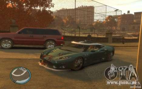 Spyker C8 Aileron pour GTA 4 vue de dessus