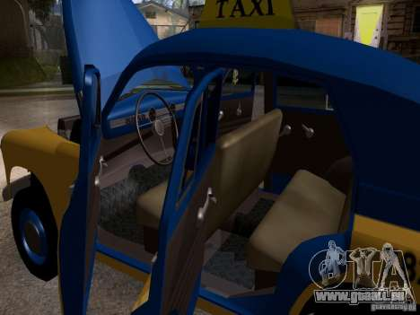 GAZ M20 Pobeda Taxi pour GTA San Andreas vue de côté