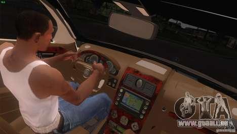 Mercedes-Benz E55 AMG pour GTA San Andreas vue de dessus
