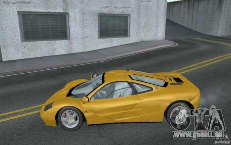 Mclaren F1 road version 1997 (v1.0.0) pour GTA San Andreas laissé vue